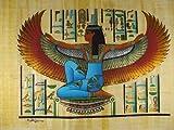 Antigua diosa Isis alfabeto painetd mano original Papyrus 12'x16' (30x 40cm)