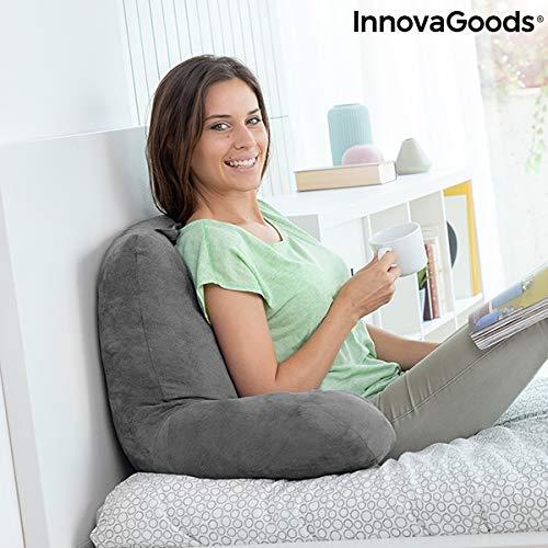 InnovaGoods leeskussen met armleuningen, grijs, 70 x 45 x 45 cm