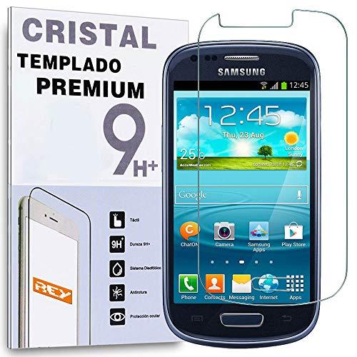 REY Protector de Pantalla para Samsung Galaxy S3 Mini Cristal Vidrio Templado Premium
