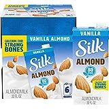 Silk Pure Almond Vanilla 32-Ounce (Pack of 6), Vanilla Flavored Non-Dairy Almond Milk, Dairy-free...