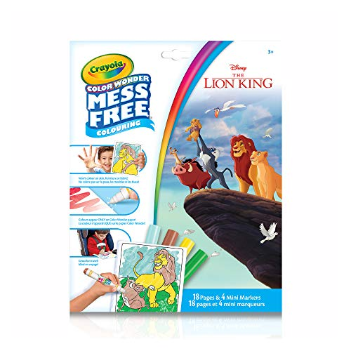 Crayola Disney The Lion King Color Wonder Mess Free Coloring - 18 Pages and 4 Mini Markers