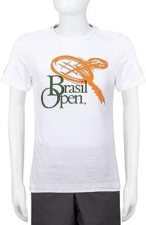 Camiseta Infantil Fila Masculino Branca - Edição Brasil Open