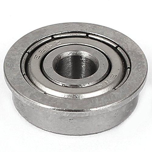 sourcingmap® 8mm x 18mm x 5mm Silber Ton Metall Siegel Typ F688ZZ Flansch Kugellager de
