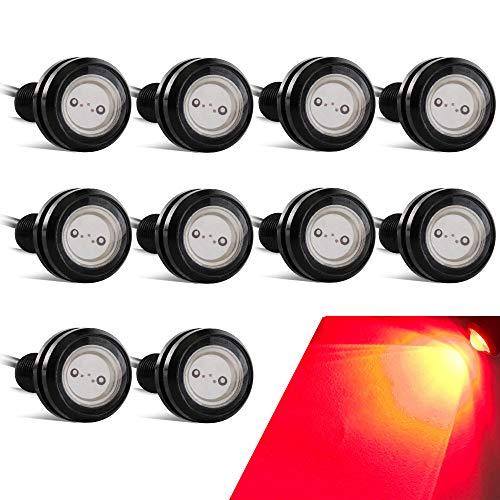 10PCS Alto Poder 23mm 9W Luz de ojo de águila Luz LED Para Automóvil Moto Luz Diurna Eagle Eye DRL Luces de Marcado (Rojo)
