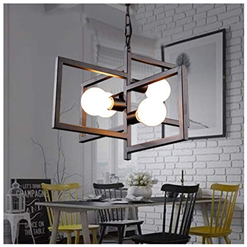 D-J Kandelaar van metaal, zwart, 1 laag, 8 koplampen, E27, handgeweven, decoratie, Steampunk
