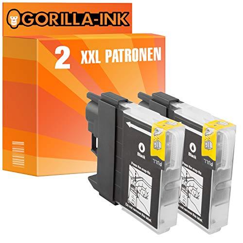 Gorilla de Ink Bajo–Juego de 2cartuchos de tinta XXL compatible para Brother LC985MFC-J 265W MFC-J 410Negro