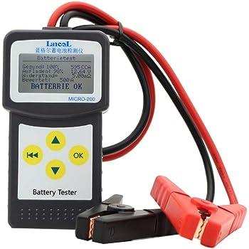 para analizar y diagnosticar sistemas de carga 100/a/2400 CCA analizador de estado 12/V Autool BT360/Probador de sistema de bater/ía mecanismos de autom/óviles y niveles de l/íquidos normales de coches dom/é