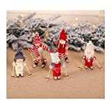 Fazeer Christmas Doll Decorations Set Sale Clearance, Cute Baubles Pendant Ornaments Toys, for Tree Window Door Outside Party Dress Up, Knited Ski Doll