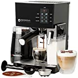 10 Pc All-In-One Barista Bundle Espresso Machine & Cappuccino Maker, 19 BAR Pump Set w/ Built in...