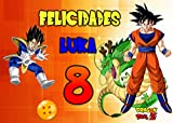 OBLEA de DRAGÓN Ball Z Personalizada con Nombre y Edad para Pastel o Tarta, Especial para...