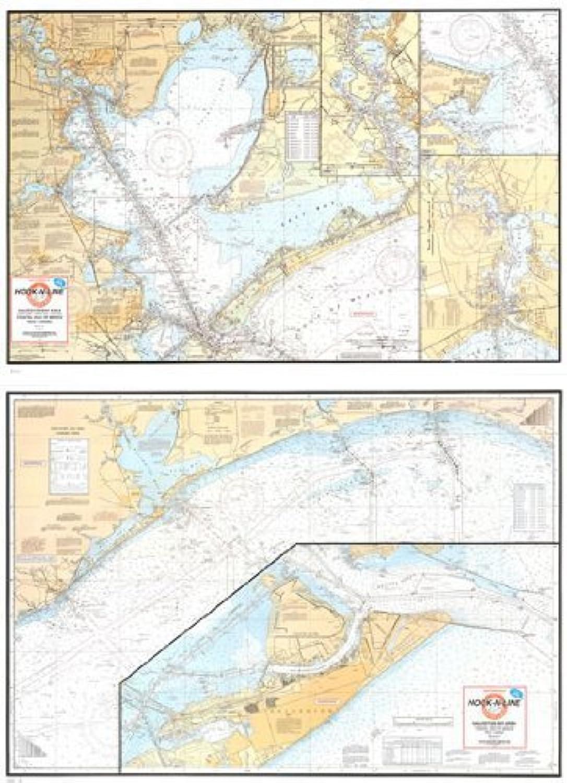 Hook-n-line B101Strohhut 's map-a Mosaik von NOAA Tabellen (Dejeuner only-no Angeln Spots) von hook-n-line Karte Company, Inc.