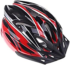 [H11138][Red]Ultralight Integrally-molded Sports Cycling Helmet with Visor Mountain Bike Bicycle