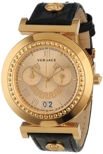 Versace Damen-Armbanduhr Vanity Chrono Chronograph Quarz Leder VA9050013