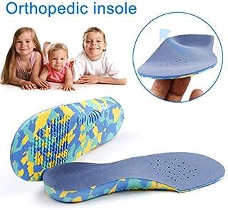 TXGLGWA Silicone Gel Enfants Orth/èses Semelles pour Enfants B/éb/é Pied Pied Plat Orthop/édique Correcteur Support Coussin Chaussures Pads Semelle