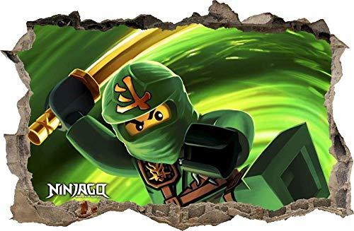 AUUUA Wandtattoos Wandaufkleber Loch in der Wand 3D Ninjago Wandtattoo Wandaufkleber