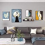 Set de 4 Marcos de Decoracion Casa Moderno,Uno 25x31cm, Dos 31x41cm, Uno 41x60cm,Negro El Plastico Fotos para Pared Decoracion para Pantalla de Pared o de Mesa