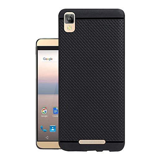 Hello Zone Exclusive Dotted Matte Finish Soft Back Case Cover for Panasonic Eluga A2 -Black