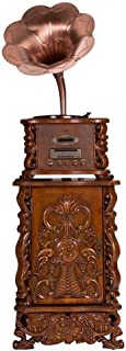 ZCD Retro Phonograph Vinyl Record/Antique Three-Speed Portable Vinyl Turntable, Big Horn Phonograph Home Bluetooth Stereo Antique Phonograph, Large Vinyl Record Player Audio Home Decoration (Size: 6
