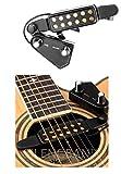 Silenceban Gitarren-Tonabnehmer mit 12 Schalllöchern für Akustikgitarre, magnetischer Vorverstärker mit Ton und Lautstärkeregler,...
