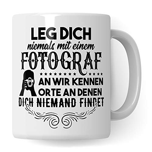 Pagma Druck Fotograf Tasse, Geschenkideen für Fotografen Kaffeebecher, Fotografieren Fotografie Objektiv Becher Kamera, Geschenke für Fotografen Kameramann Kaffeetasse