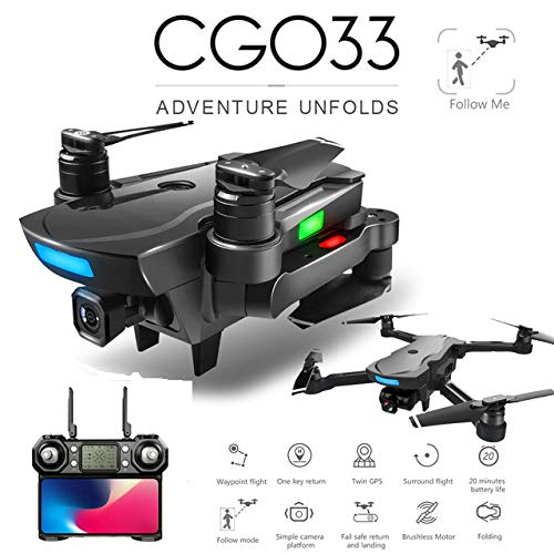 NA CG033 Brushless FPV Quadcopter mit 4 Karat HD Wifi Gimbal Kamera RC Hubschrauber Faltbare Drone GPS Drone Kinder Geschenk vs SG906 F11 zen k1 2 Batterie