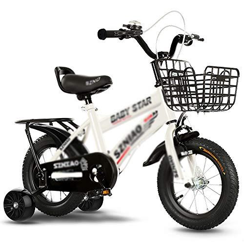 CivilWeaEU Bicicleta para Niños con Entrenamiento Y Ruedas Bicicleta Deportiva para Niños Estabilizadores Extraíbles Ligeros Cochecito De Bebé De Juguete para Niños De 2 A 12 Años