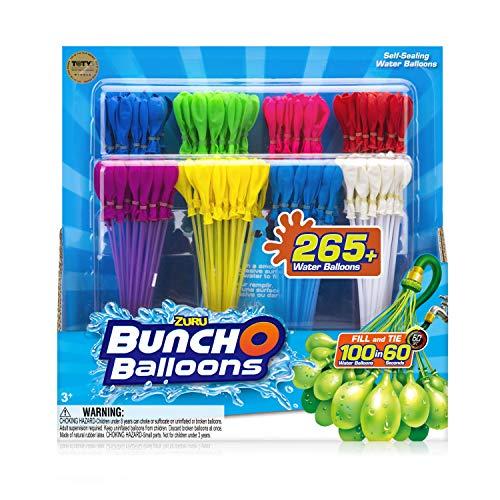BUNCH O BALLOONS 265 selbstdichtende Wasserballons, 8 Bündel mit je 35 Wasserbomben (280 Wasserbomben)