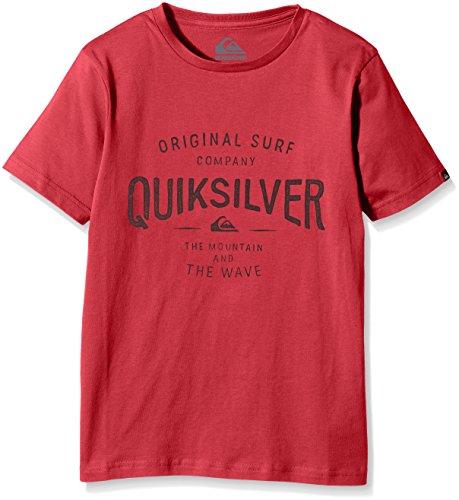Quiksilver Claim It B Tees T-Shirt Garçon, American Beauty, FR : 10 Ans (Taille Fabricant : S/10)