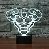 Aerobics Muscle Touch Lámpara De Mesa 7 Colores Lámpara De Escritorio Cambiante Lámpara 3D Novedad Led Luces Nocturnas Luz Led