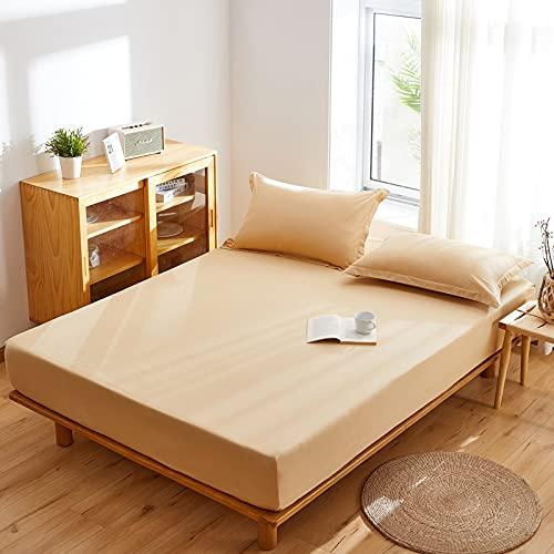 HAIBA Lenzuolo con angoli, 100% cotone spazzolato, per letto matrimoniale, angoli elastici, 120 x 200 + 15 cm