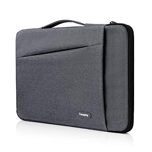 yumcute Custodia per laptop, Custodia per laptop da 14 pollici con manico, Custodia protettiva per computer impermeabile a 360 ° Compatibile con MacBook Notebook Grigio