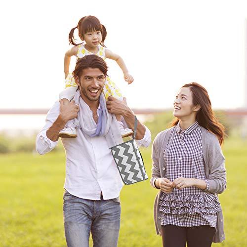 LEADSTAR Portátil Cambiador, Impermeable Cambiador de Pañales para Bebé, Cambiador de Viaje, Lavable Plegable Orinal Infantil Pad Kit de Cambiador Para el Hogar Viaje Fuera