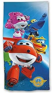 New Import NI-918-304 Toalla de Playa con Diseño Super Wings, Poliéster, Multicolor, 30x5x35 cm