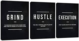 Motivational Office Wall Decor Inspirational Success Canvas Wall Art Hustle Posters Prints Entrepreneur Quote Wall Picture...