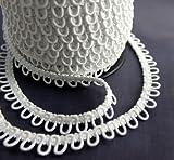 Nakpunar 12' White Elastic Button Loops - Adjacent
