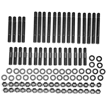 ARP 234-4315 Pro Series Black Oxide 7//16-3//8 Step Stud Diameter 12-Point Cylinder Head Stud Kit for Small Block Chevy