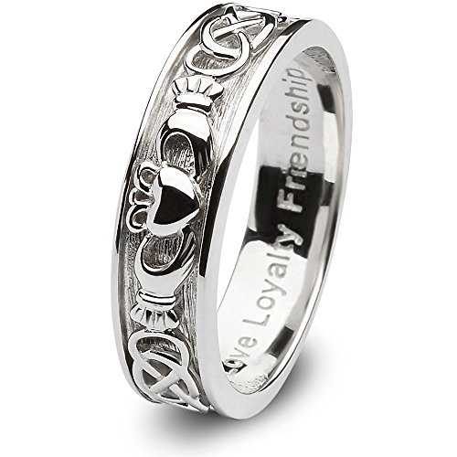 Ladies Claddagh Wedding Ring SL-SD8 - Size: 8 Made in Ireland.