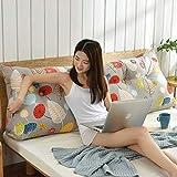 Tokyia Cabecero de cama de doble cintura suave Tatami cojín (color: V, tamaño: 135 cm)