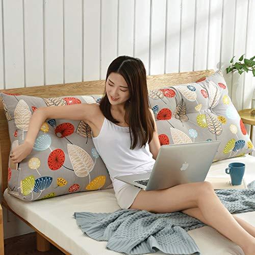 Tokyia Cama de doble espalda, cojín de cama con forma de tatami, cojín lumbar para la cintura (color: X, tamaño: 90 cm)