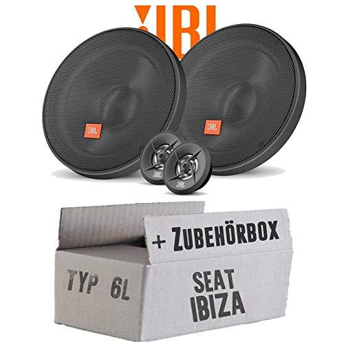 Lautsprecher Boxen JBL 16cm System Auto Einbausatz - Einbauset für Seat Ibiza 6L Front Heck - JUST SOUND best choice for caraudio