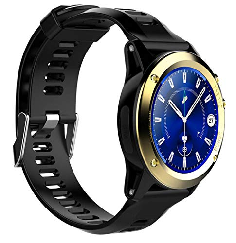 ELEGENCE-Z Smart Watch, Bluetooth 4.0 Round Smartwatch SYNC oproepmeldingen voor Android Google Men Women Black