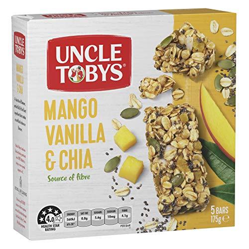 UNCLE TOBYS Mango Vanilla & Chia, 5 Count