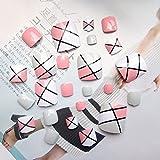JUNDE Fhdjcn 24 Uds Puntas de uñas postizas para pies Bonitos Dedos de los pies Falsos Herramienta de Arte para los Dedos de los pies Regalo de Verano para Mujeres