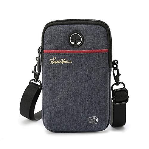 LWBTOSEE パスポートケース パスポート入れ パスポートホルダー 首下げ 薄型 財布 斜め掛けバッグ ナイロン製 防水機能 大容量 スキミング防止 (黒)