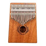 サムピアノ 17鍵マホガニーカリンバ親指指ピアノターンスティック/指スリーブ/サウンドステッカー/ポスト/布/バッグ 指打楽器