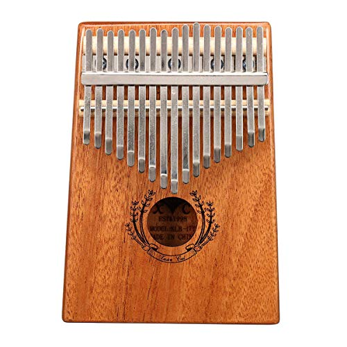 ZIEO Pocket Thumb Finger Piano17 Tasten Mahagoni Kalimba Daumen Finger Piano Mit Drehstab / Fingerhülse / Sound Sticker / Pfosten / Stoff / Tasche Finger Daumen Klavier