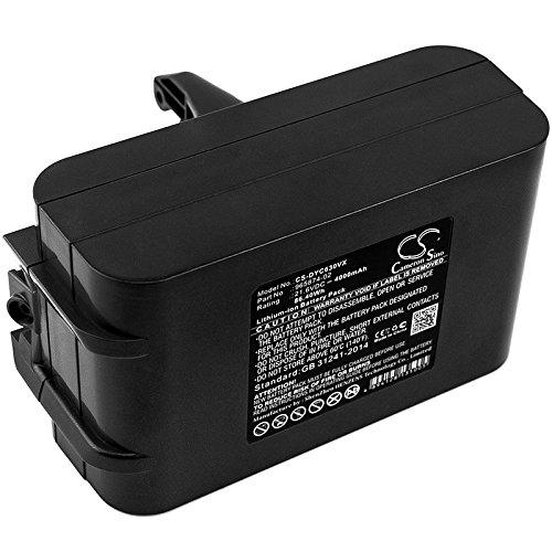 TECHTEK batería sustituye 205794-01/04, 965874-02 Compatible con [Dyson] Absolute, DC58, DC61, DC62, DC62 Animal, DC72, DC74 Animal, SV03, SV03 Animal Pro, SV04, SV05, SV05 Absolute, SV06, SV06 Fluff