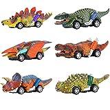 Paquete de 6 Coches de Dinosaurios Juguetes,WolinTek Juego de Juguetes de Dinosaurio para Coche,Juguetes,Juguetes para Niños,Regalos para Niños