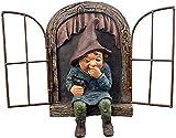 Elf aus der Tür Baum Hugger, Garten Gnom Zwerg Figur dekorative Ornament Miniatur Harz Geburtstagsgeschenke, Patio Yard Lawn Porch Ornament Geschenk (Junge Leute)