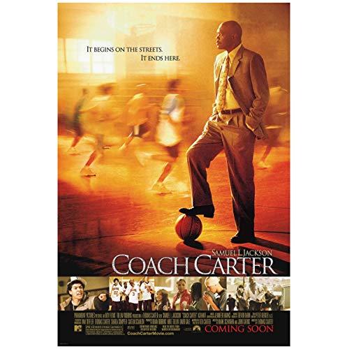 Weitaianコーチカーター(2005)主演サミュエルL.ジャクソン映画ポスターキャンバスプリント絵画壁アートリビングルームの寝室の装飾-50X70Cmフレームなし